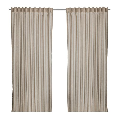 VIVAN Curtains, 1 pair IKEA The curtains let the light through but ...