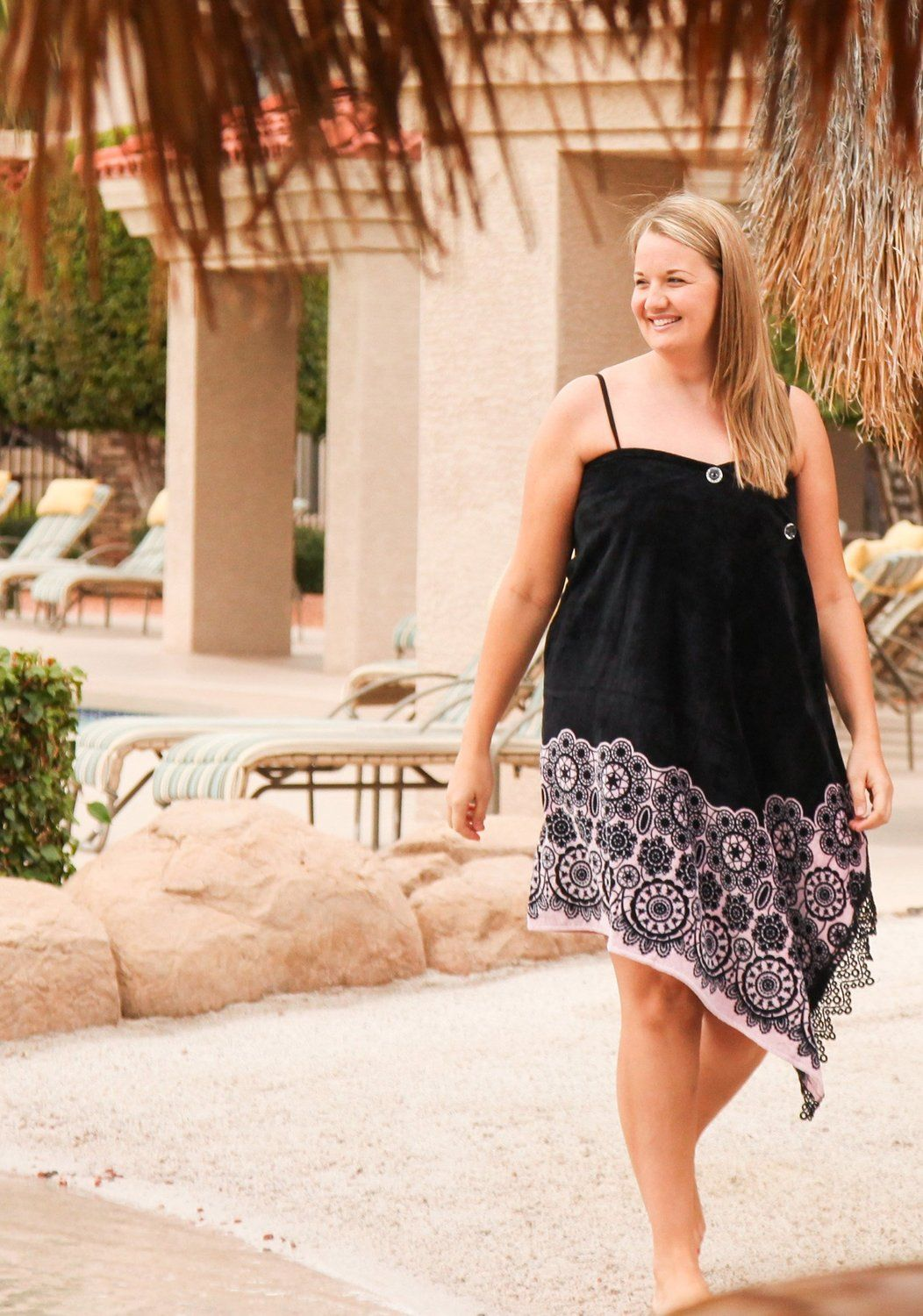 19ed839162 In Black Lace - Simple Sarongs Women's Swimsuit Cover-Up & Beach Towel  All-in-One at Amazon Women's Clothing store: