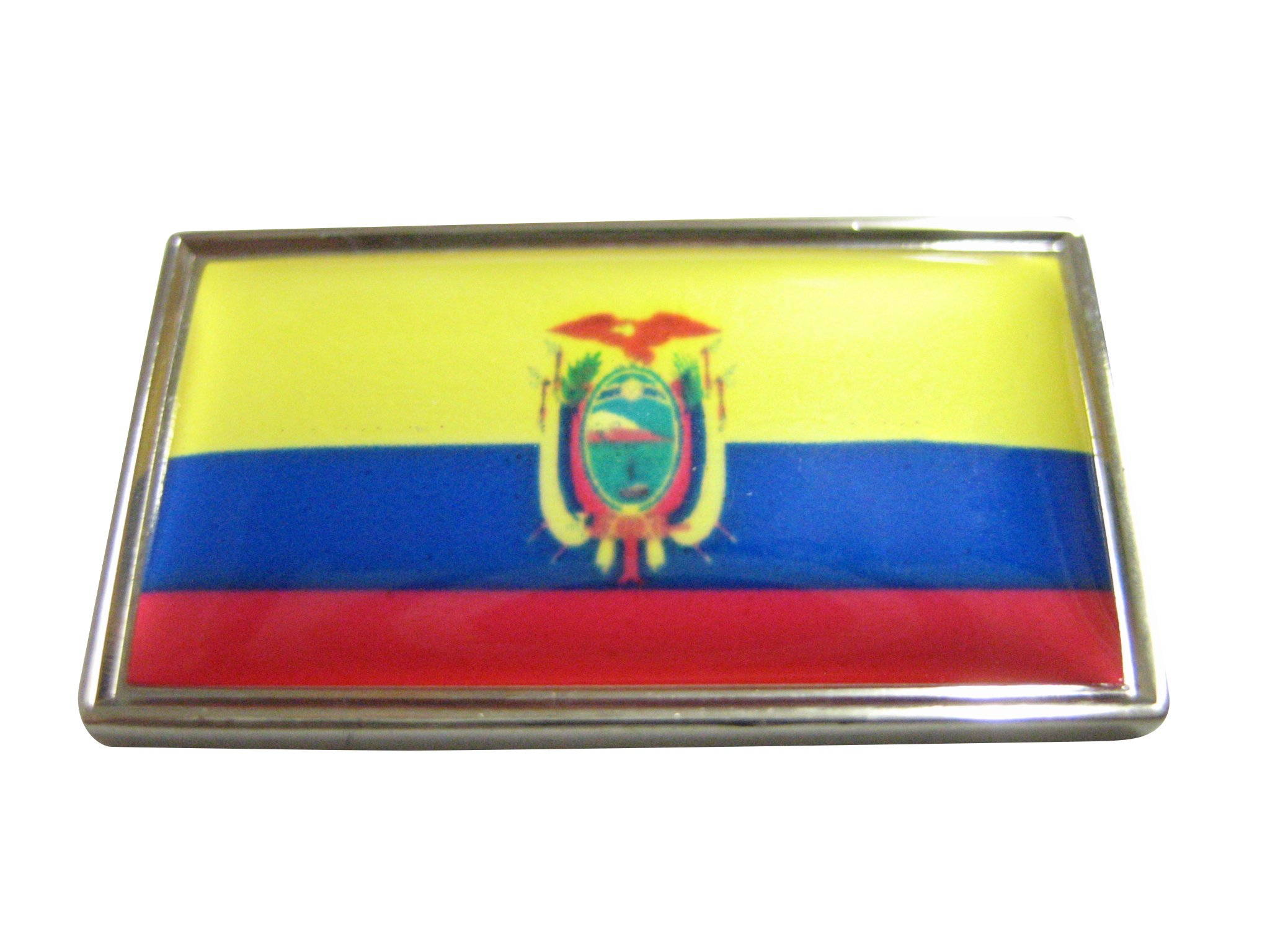 Thin Bordered Ecuador Flag Magnet Ecuador Flag Magnets Rare Earth Magnets