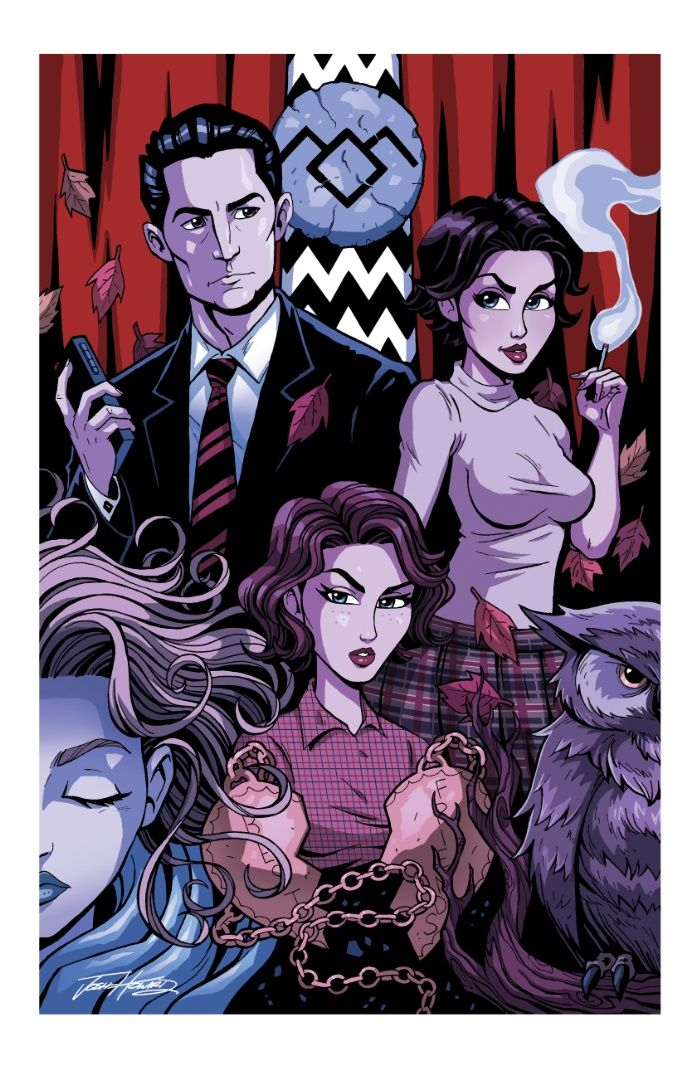 Twin Peaks Girls Colour POSTER
