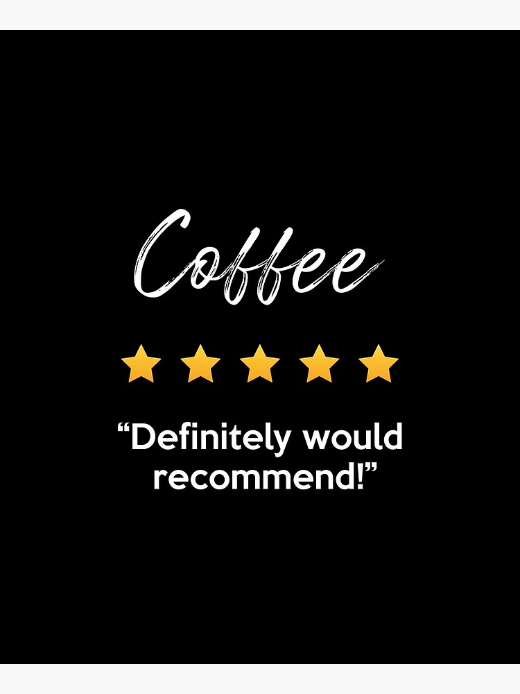 Cute Coffee Five Star Rating Definitely Would Recommend Gift Apron By Craftypineapple Five Star Star Rating Gifts