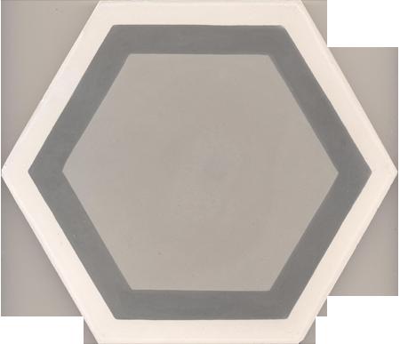 Carreaux de ciment - Les carreaux hexagonaux - Carreau GALA 07.27.32/3 - Couleurs & Matières