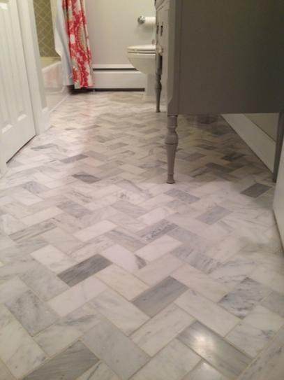 Jeffrey Court Carrara 3 In X 6 In X 8mm Honed Marble Wall Tile 1pk 8pcs 1 Sq Ft 4 5 Lbs Each Marble Wall Tiles Herringbone Tile Floors Entryway Flooring
