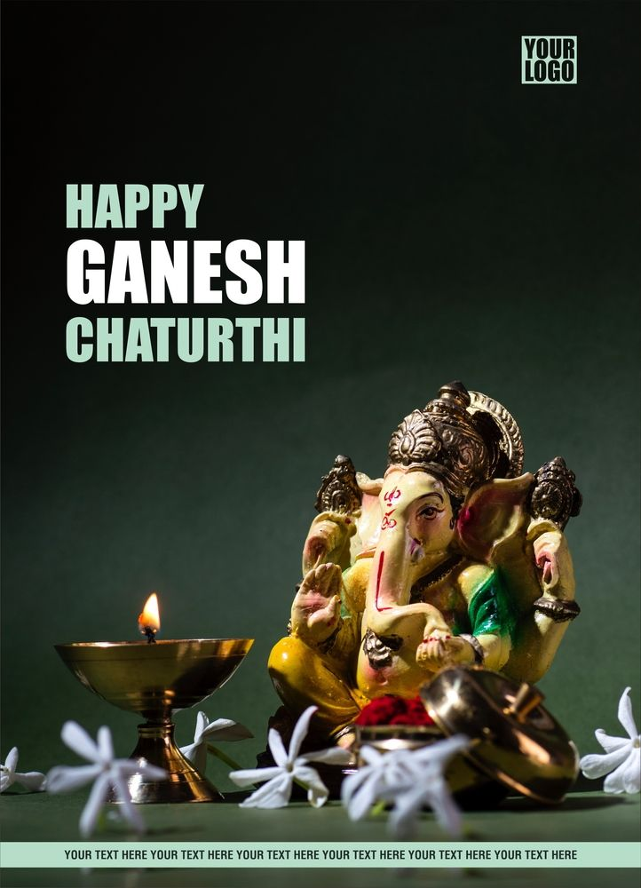 Happy ganesh chaturthi greeting card design ganesh chaturthi happy ganesh chaturthi greeting card design m4hsunfo