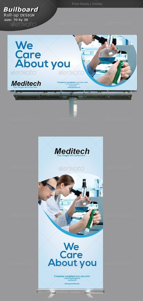 Medical Billboard and Roll-up Banner - Signage Print Templates #Medical banner #...