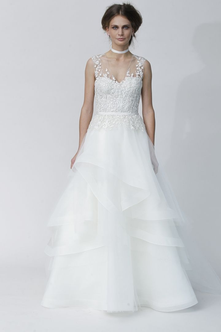 love the shape, neckline and ruffles