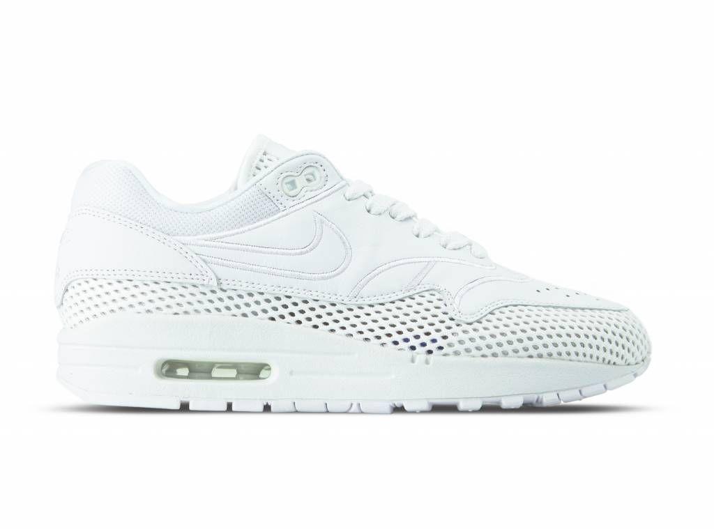 Nike WMNS Air Max 1 SI White White Vast Grey AO2366 100 (met