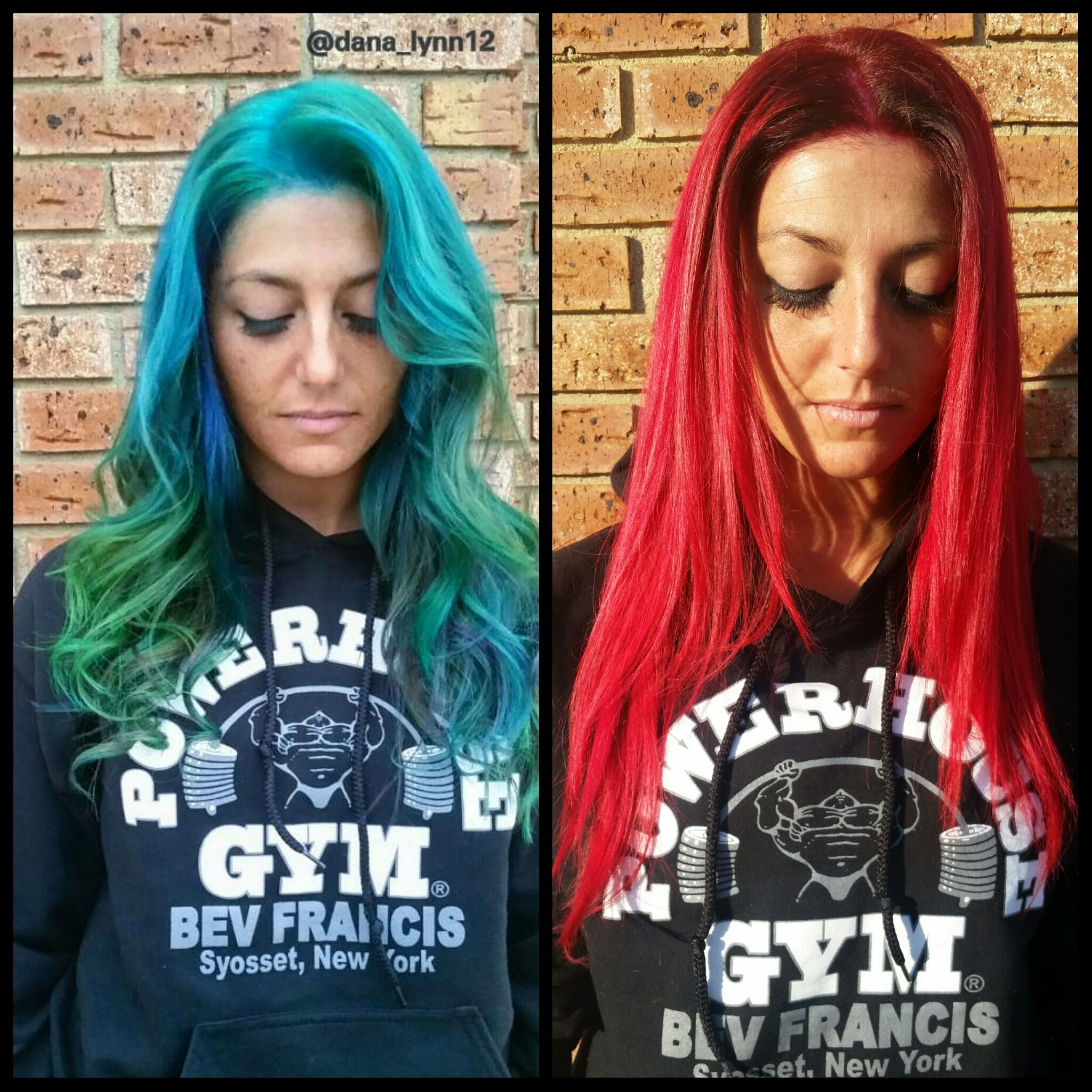 Fashion bluegreen to bright red career salons