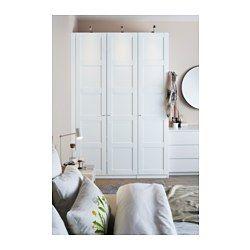Schlafzimmerschrank weiß  PAX Kleiderschrank, weiß, Bergsbo weiß - 150x60x236 cm - Scharnier ...