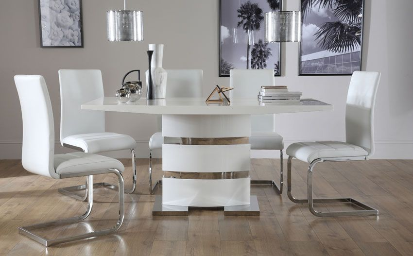 Komoro White High Gloss Dining Table  Livingdining Room New High Gloss Dining Room Furniture Design Ideas