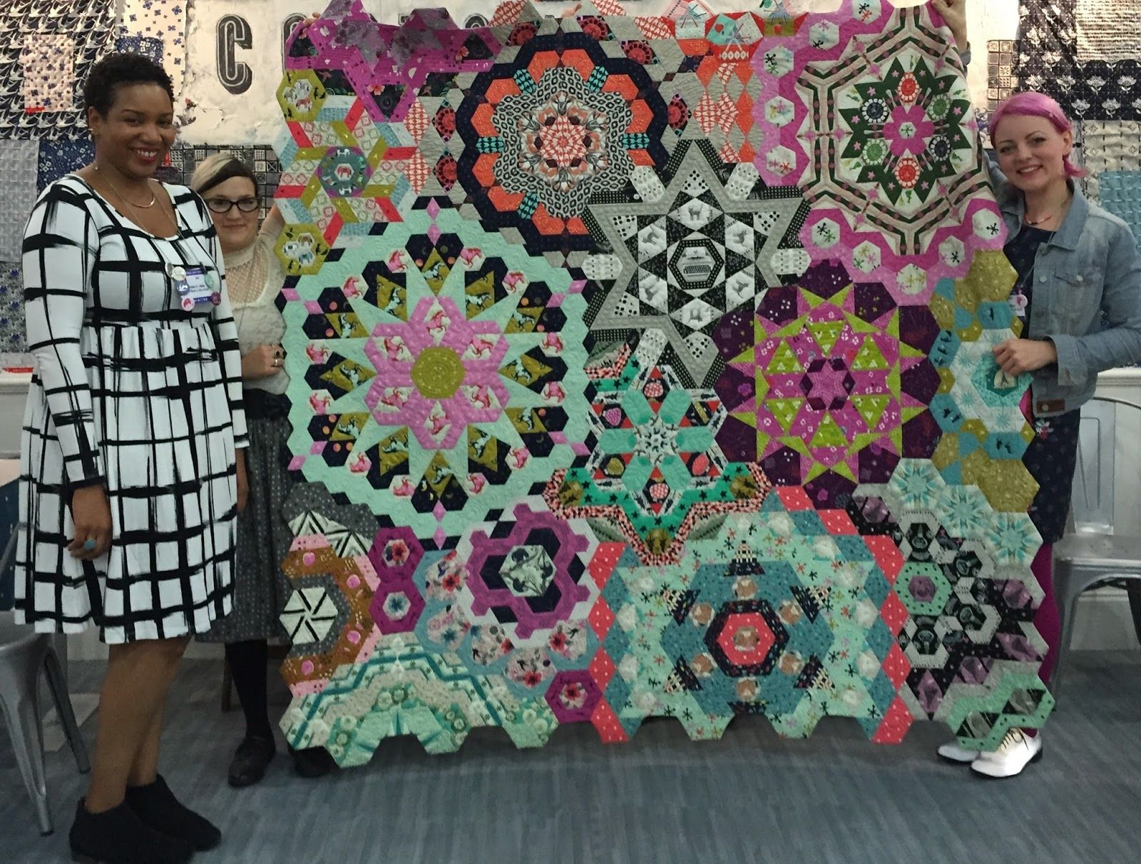 Yes it is finished Better yet it was a big hit at Quilt Market in