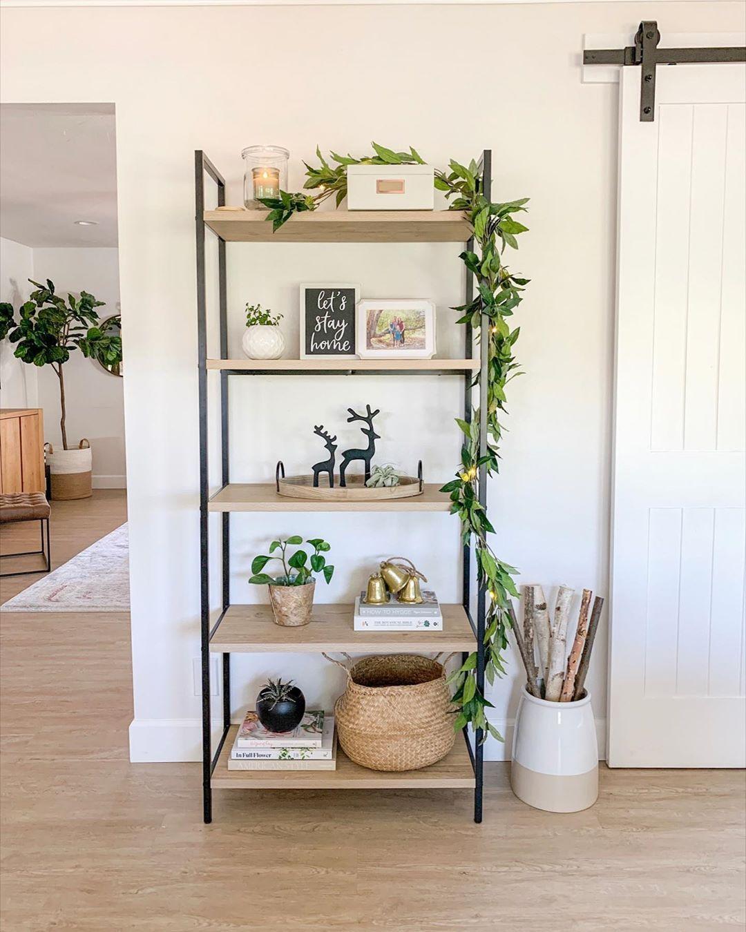 """•BETH LIGHT• on Instagram """"Our modern farmhouse bookshelf"""
