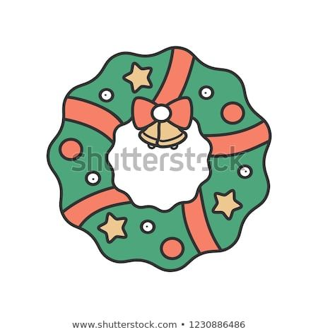 Cartoon christmas wreath pictures