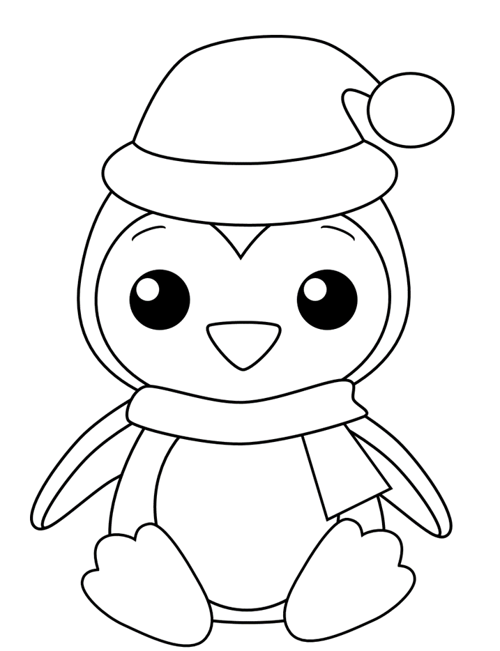 Penguin Coloring Pages Christmas Coloring Sheets Penguin Coloring Pages Penguin Coloring