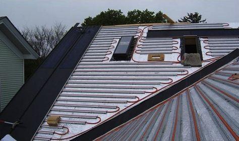 Solar Sandwich Roof Installation