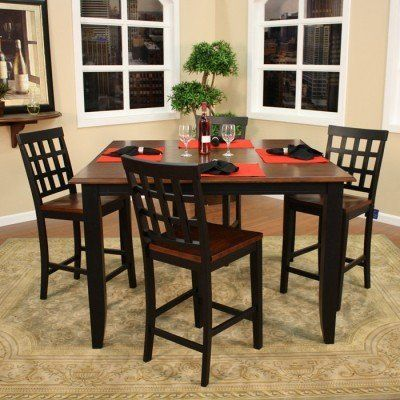 American Heritage Billiards Rosetta 5 Pc Counter Height Dining Set With Mia  Chairs By American Heritage