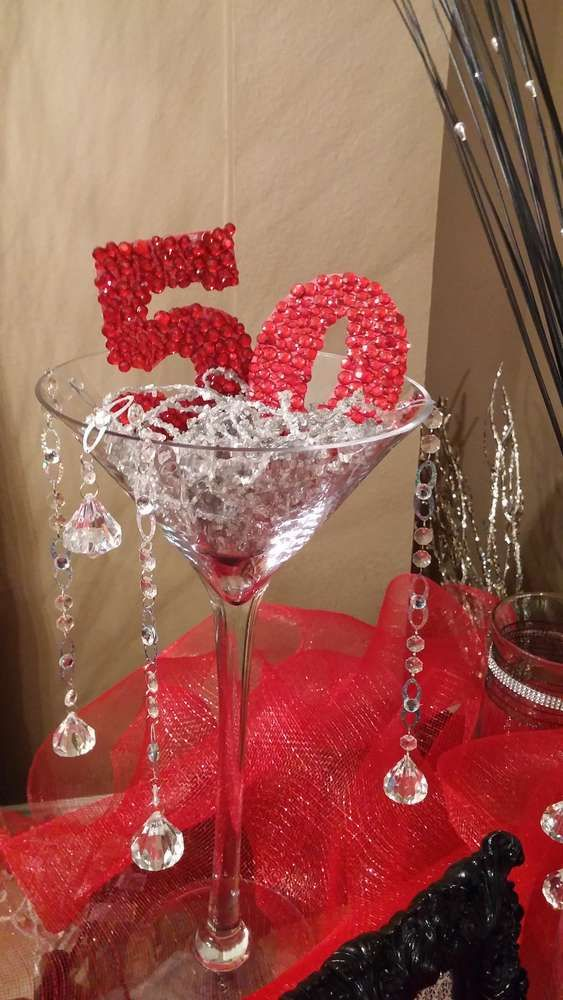 Red Black White And Grey Red Fav Birthday Party Ideas 50th