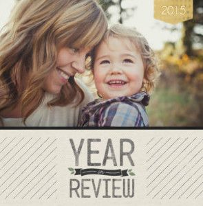Mixbook Linen Year in Review Year in Review Photo Books