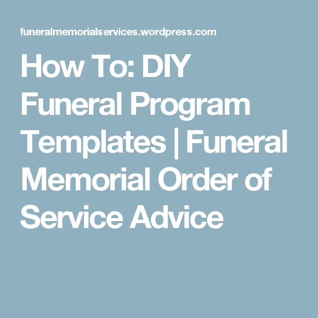 How to diy funeral program templates funeral memorial program how to diy funeral program templates solutioingenieria Choice Image