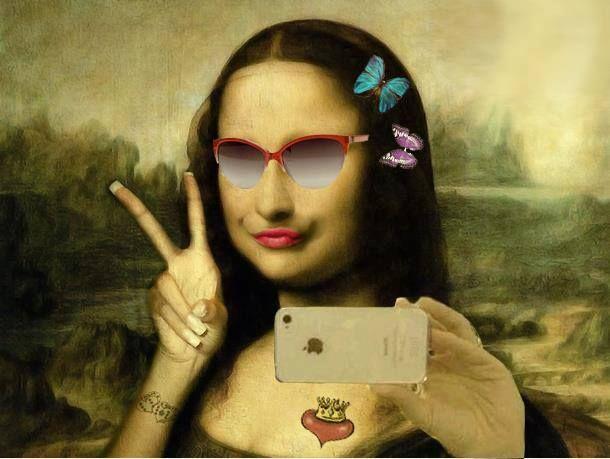 Reinterpretaciones/MonaLisa/Selfie   Lustige profilbilder