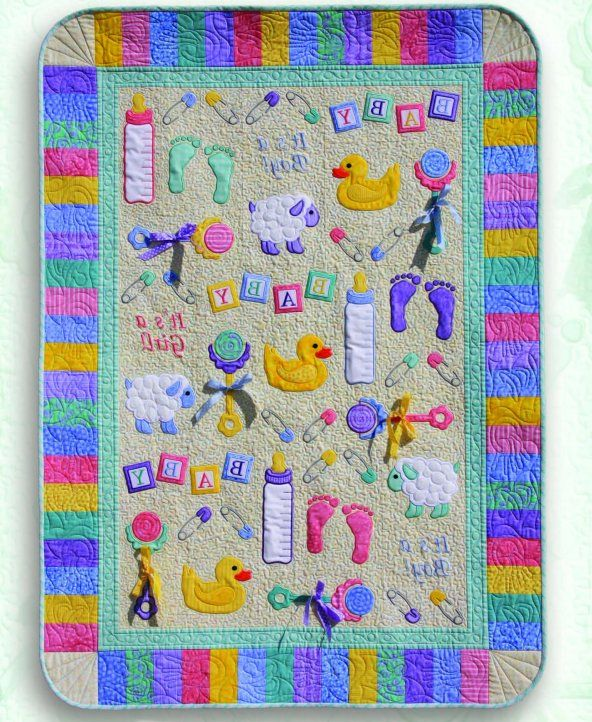 Applique Baby Quilt Patterns Free in Pattern | First