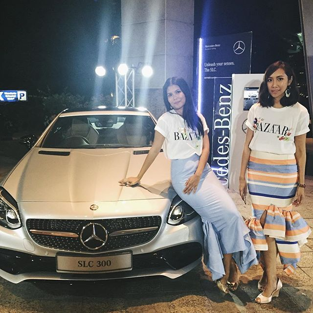 """@innaigroup ladies @izriniz and @arene_k puts the """"haute"""" into """"haute wheels"""". @mercedesbenzmalaysia #mymbdreamcar  via HARPER'S BAZAAR MALAYSIA MAGAZINE OFFICIAL INSTAGRAM - Fashion Campaigns  Haute Couture  Advertising  Editorial Photography  Magazine Cover Designs  Supermodels  Runway Models"""