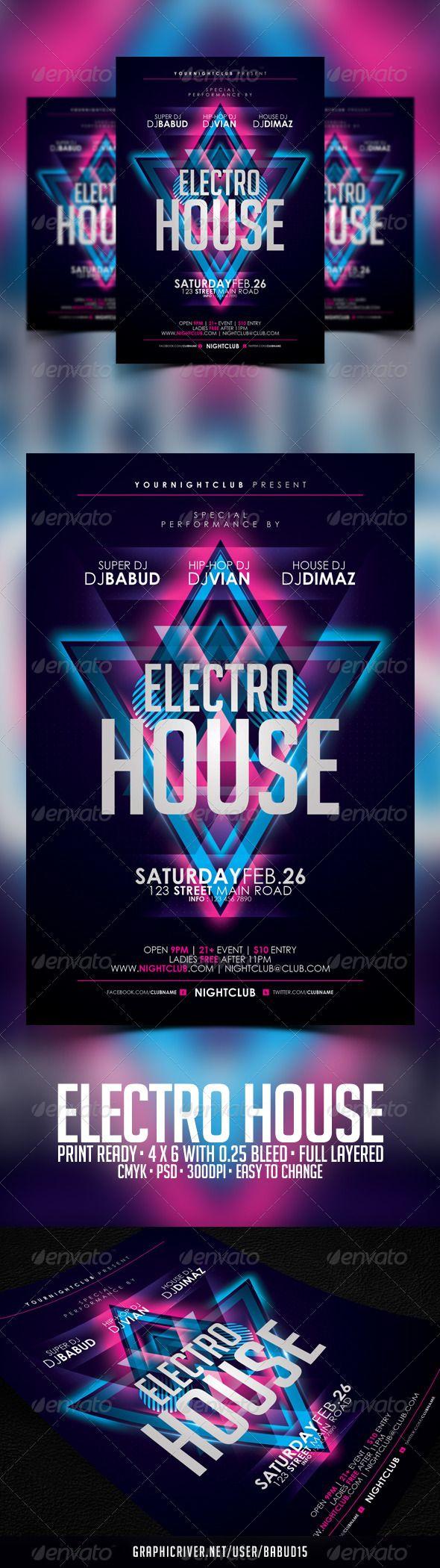 Electro House Flyer Template – Electro Flyer