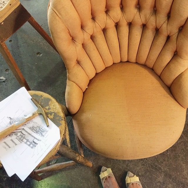 My first re-upholstery project •