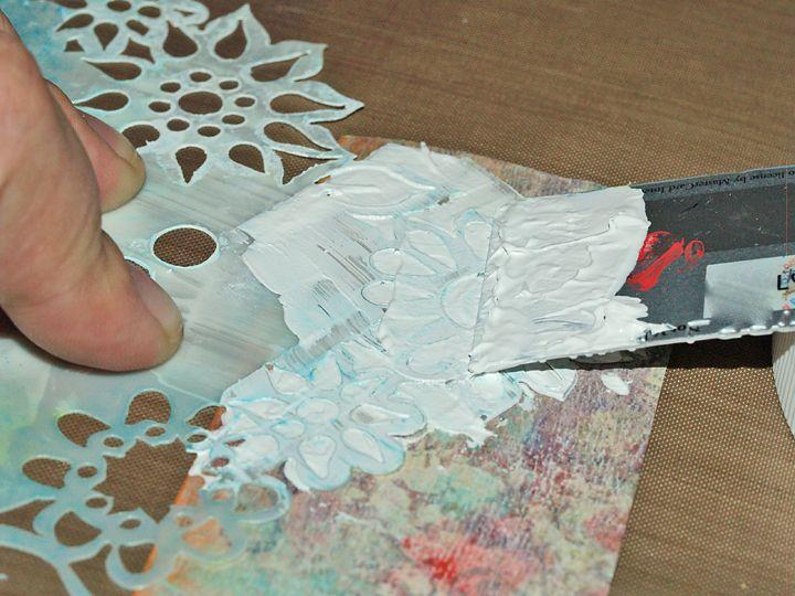 Gesso Stenciling: 2 Ways To Create Texture   birgitkerr.com