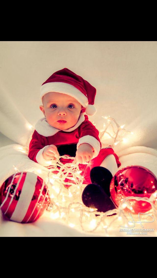 Baby Girl Christmas Photo Idea