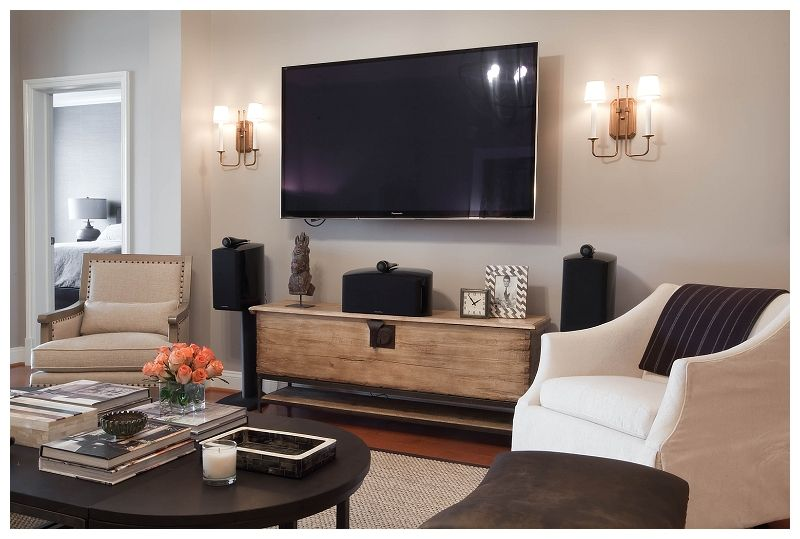 Like The Set Up Of The Tv Scones And Entertainment Center With Knick Knacks Living Room Tv Trendy Living Rooms Narrow Living Room #tv #set #in #living #room