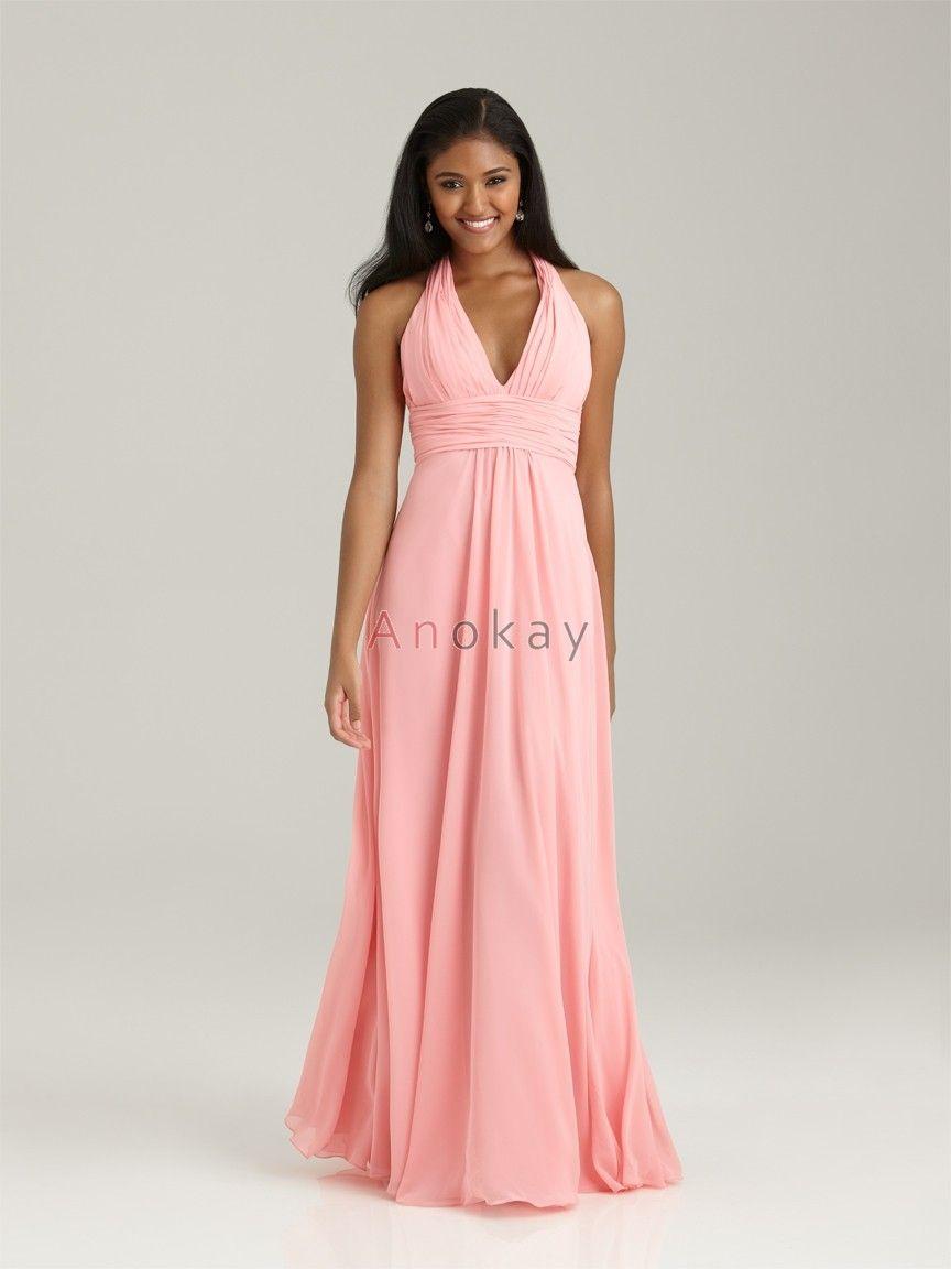 Pinkes neckholder kleid