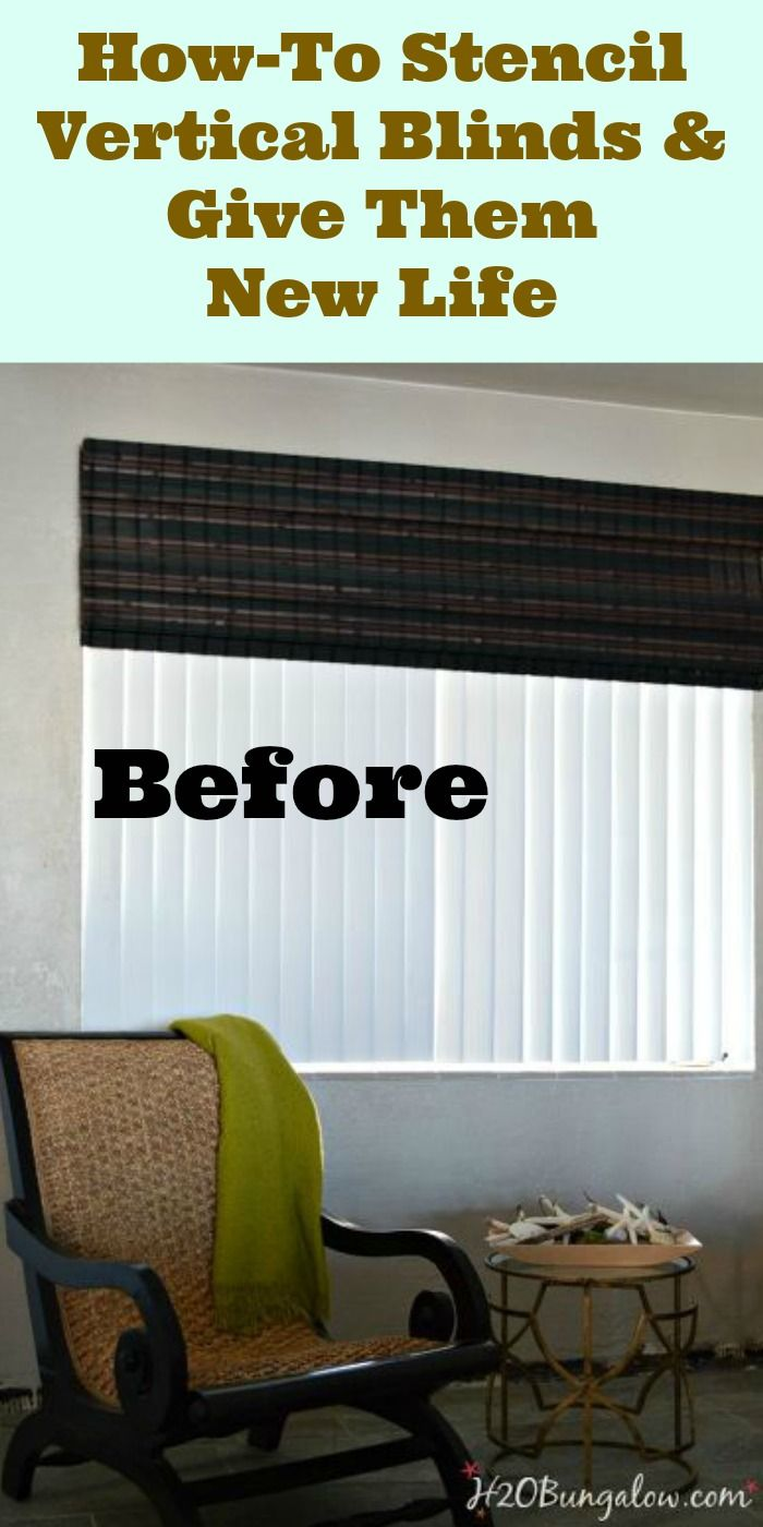 How To Update Vertical Blinds With Stencils