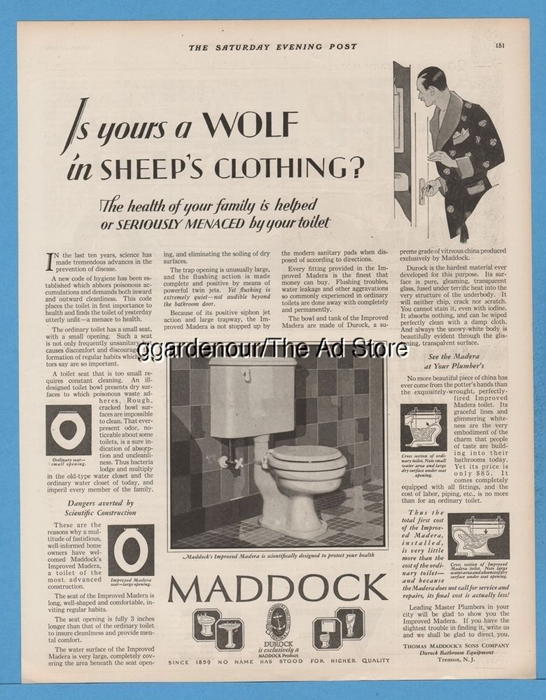 1928 Thomas Maddocku0027s Sons Trenton NJ Toilet Indoor Bathroom Plumbing  Fixture Ad