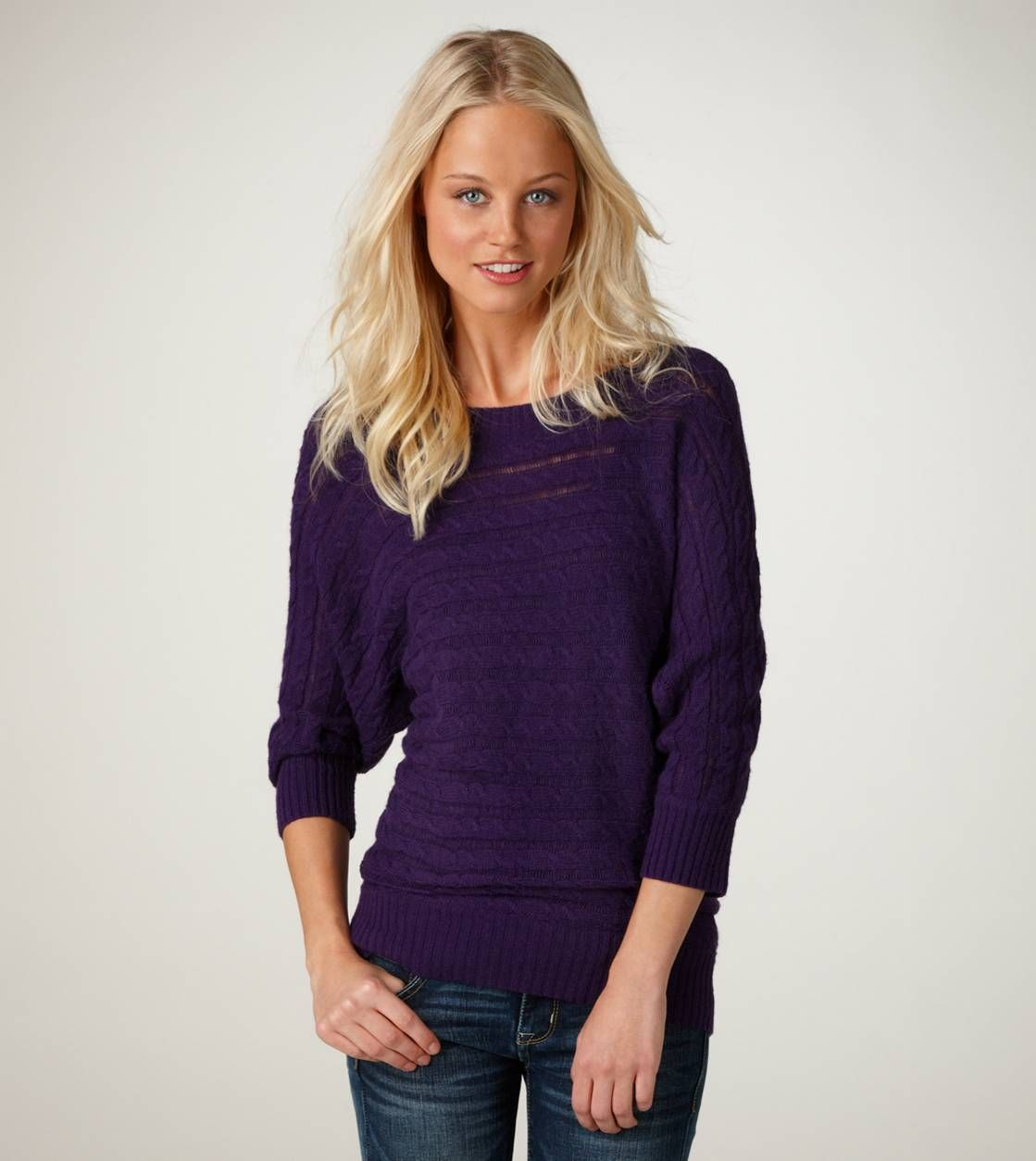 AE Dolman Cable Sweater