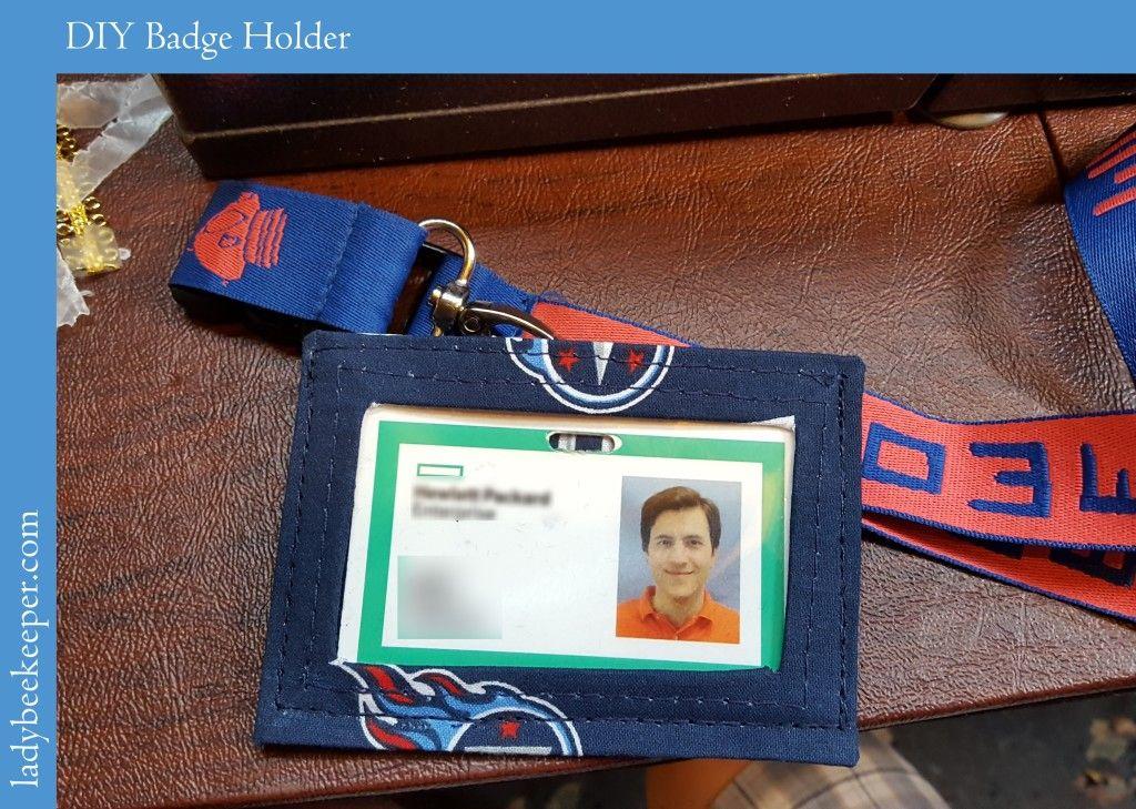 DIY Badge/ID Holder Badge holders, Badge holders diy, Badge