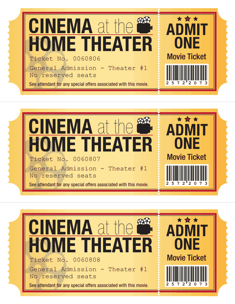 photo regarding Printable Movie Tickets named Video clip Ticket.pdf - Google Determination crafts Video clip tickets