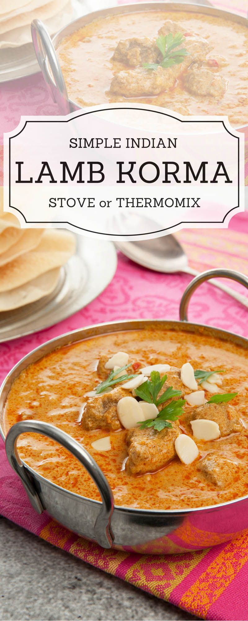Delicious Indian Lamb Korma Curry Made From A Simple Authentic Recipe This Thermomix Variation For Thermokitchen Cookbook