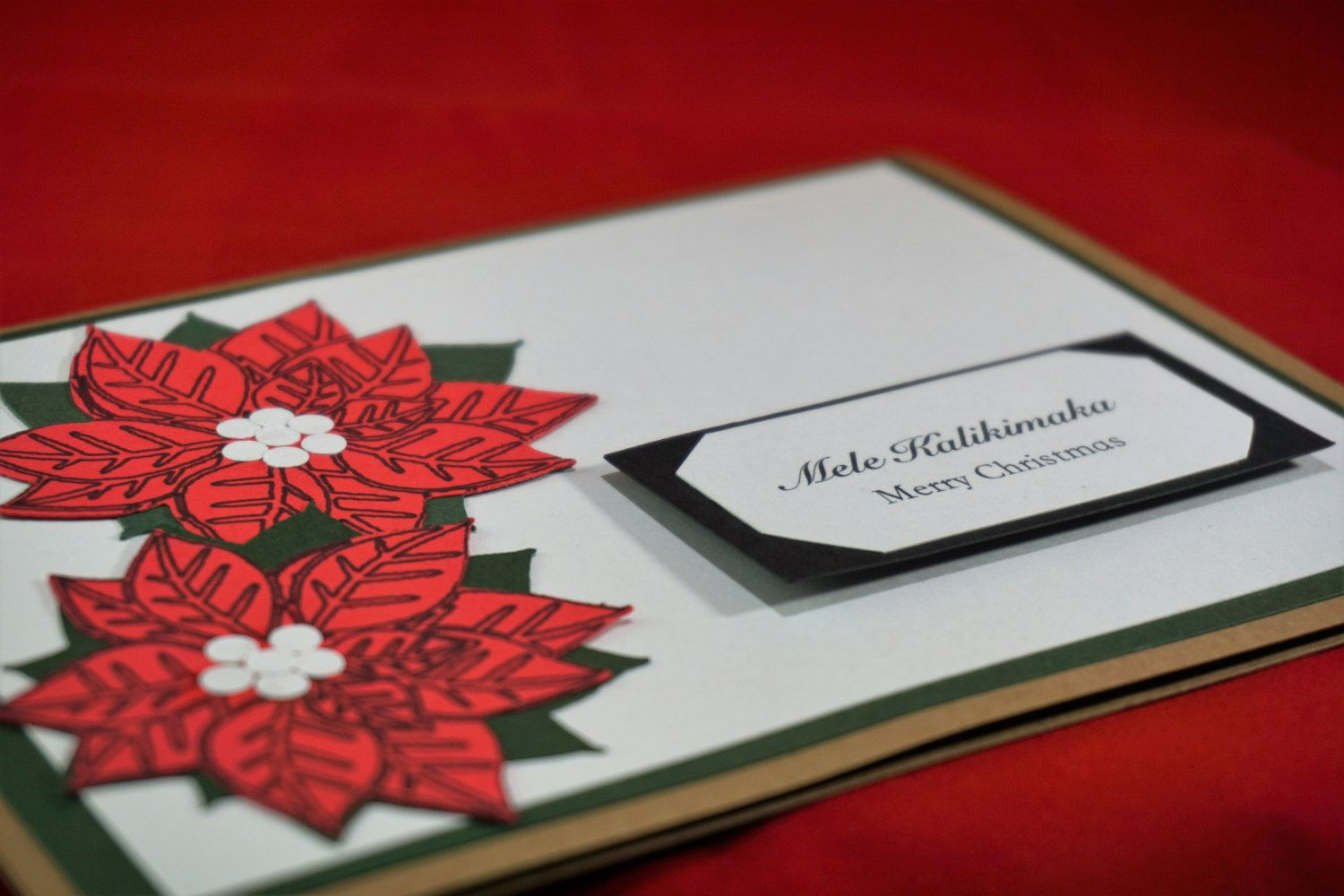 hawaiian christmas card, mele kalikimaka, made in hawaii, gift for her, gift for him, red, green, hawaii love card by xoxoTi on Etsy