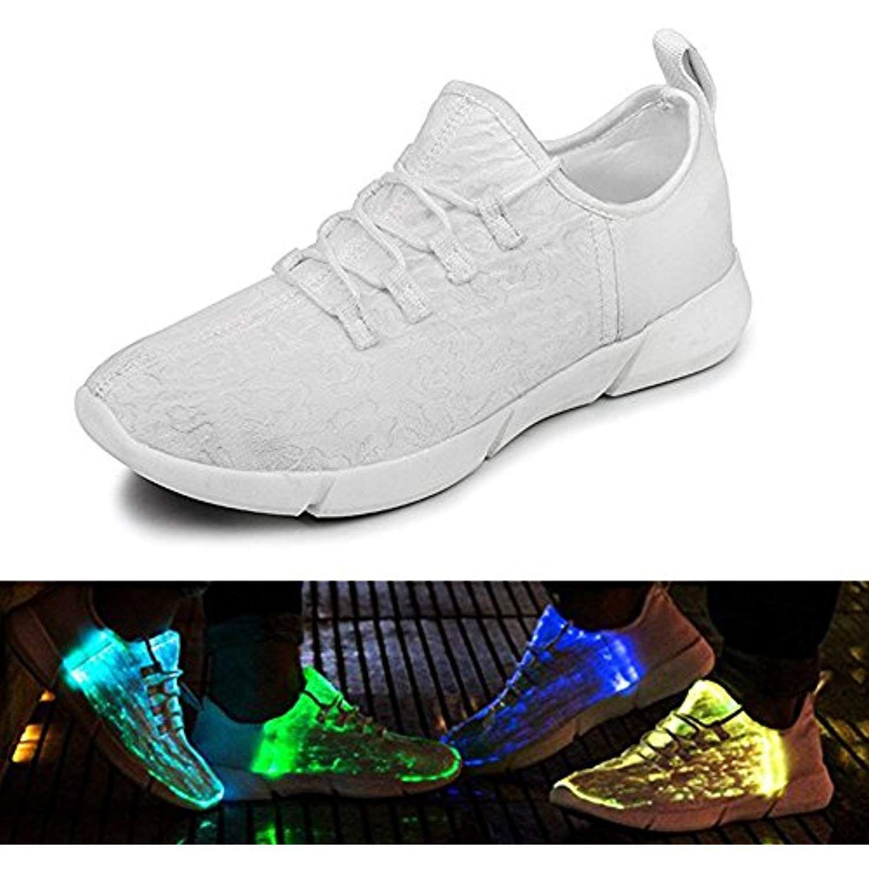 LED Light Up Shoes Fiber Optic LED Colorful Shoes 7 Colors 12 Modes  Luminous for Women Men Kid   For more information 73c715df71