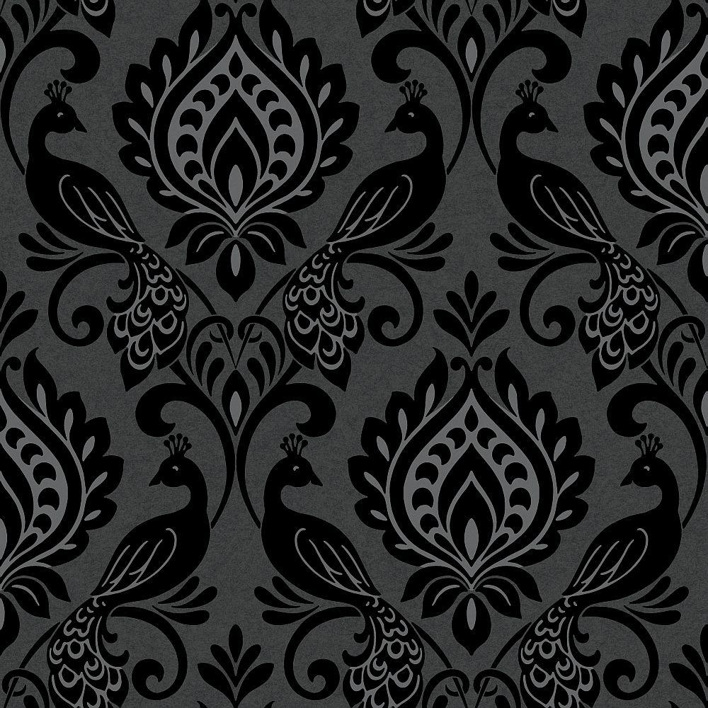 Borromeo By Arthouse Black Olive Wallpaper Direct Glitter Wallpaper Wallpaper Home Art