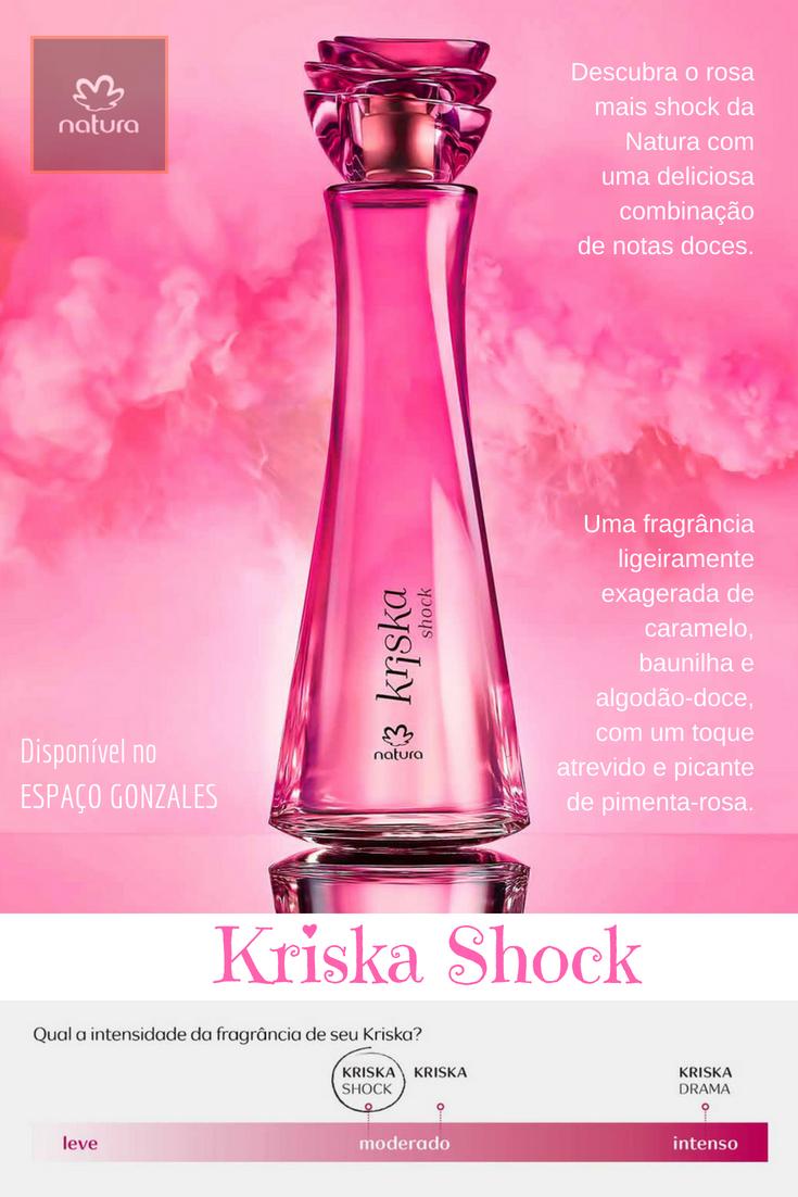 Desodorante Colônia Kriska Shock Feminino - 100ml   Perfumes ... 49496e4c74