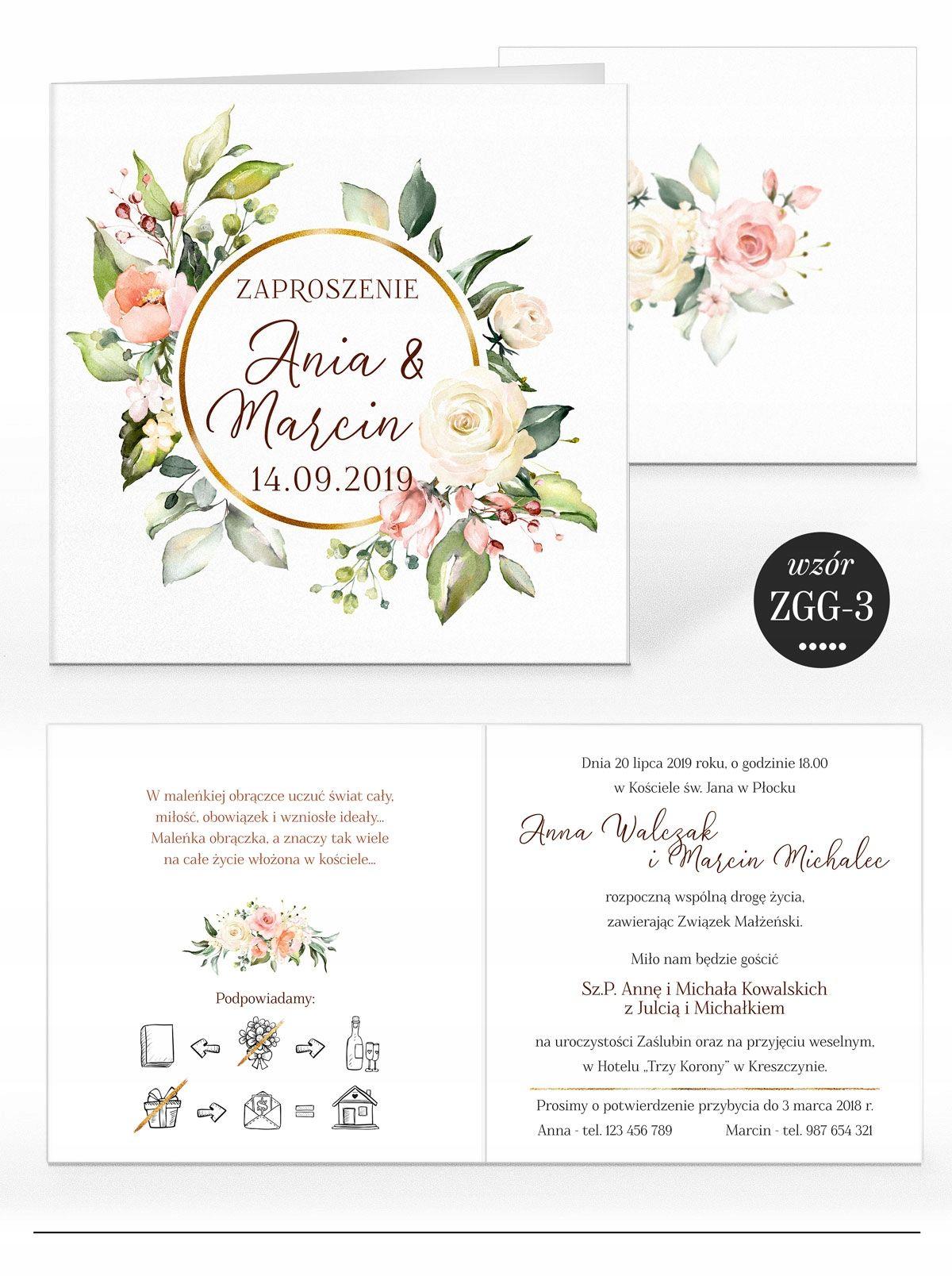 Zaproszenia ślubne Rustykalne Kwiaty Koperta In 2019 For Rionne
