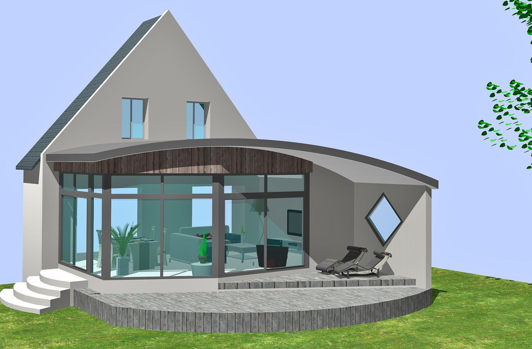extension toit arrondi en 3d inspirations extension et maisons de r ve pinterest extension. Black Bedroom Furniture Sets. Home Design Ideas
