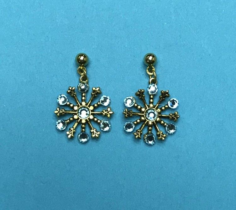 33e6ceb48f0e9 Aquamarine Small Snowflake Earring #844EAQUA | Pinterest Mini-Mall ...