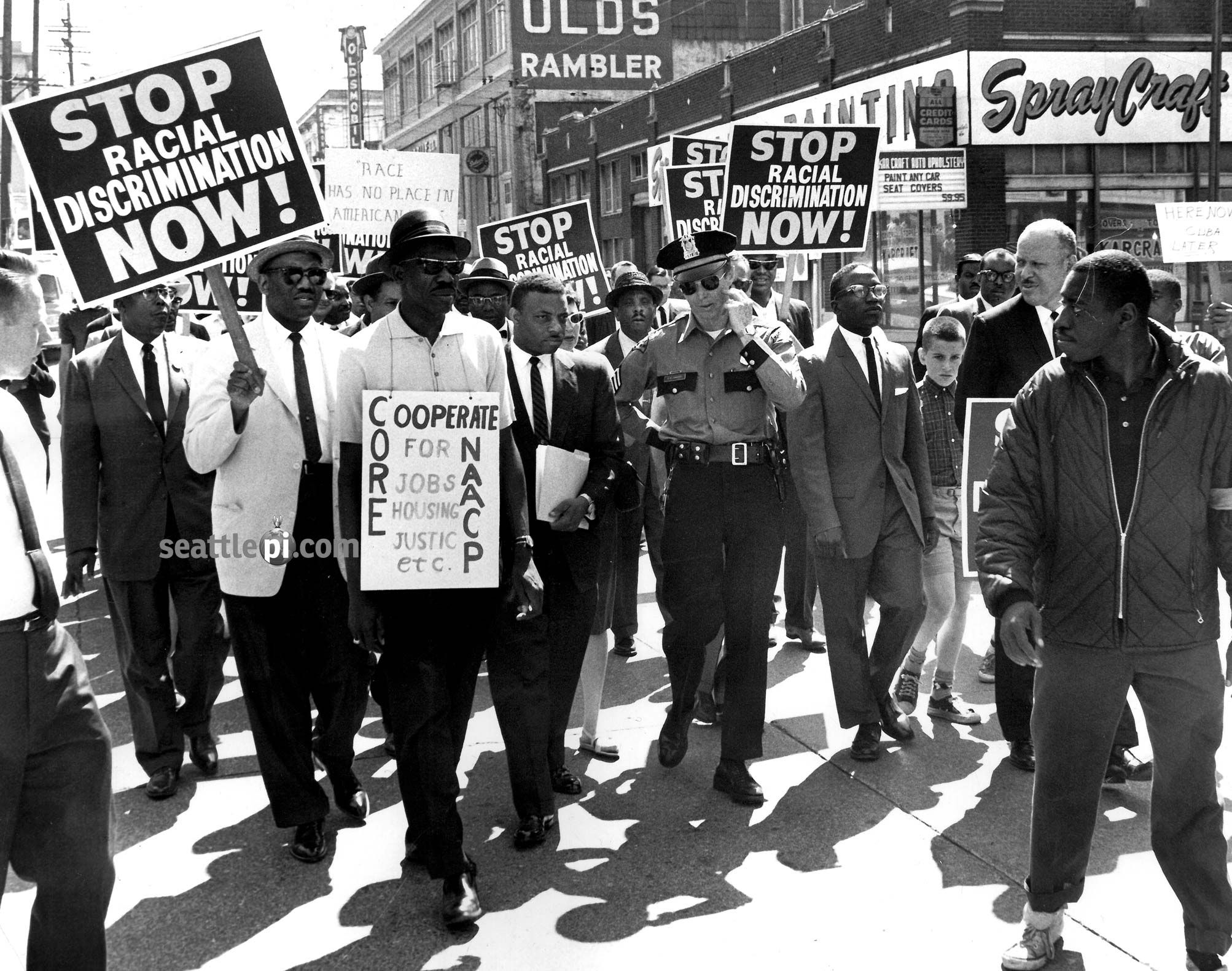 P I Archive Civil Rights Protests In Seattle