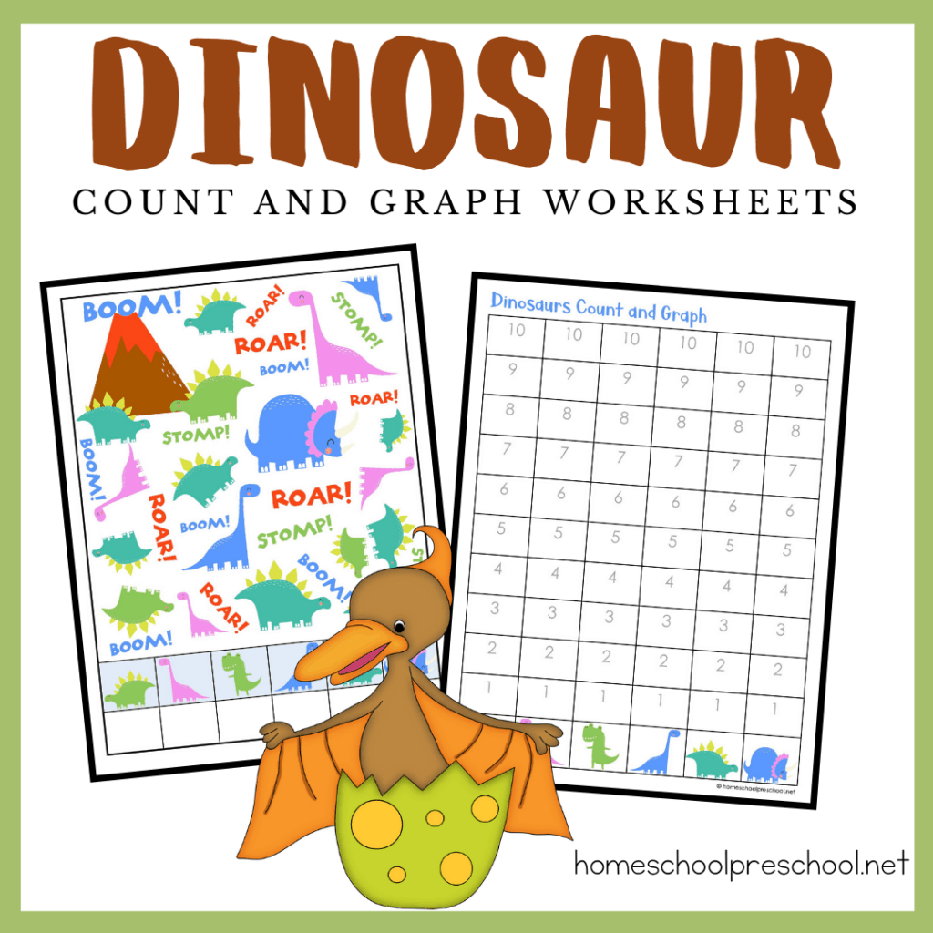 Dinosaur Count And Graph In