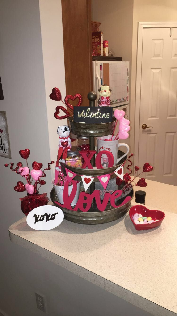 Valentine S Day Valentines Day Pinterest Trays Tiered Stand And Holidays