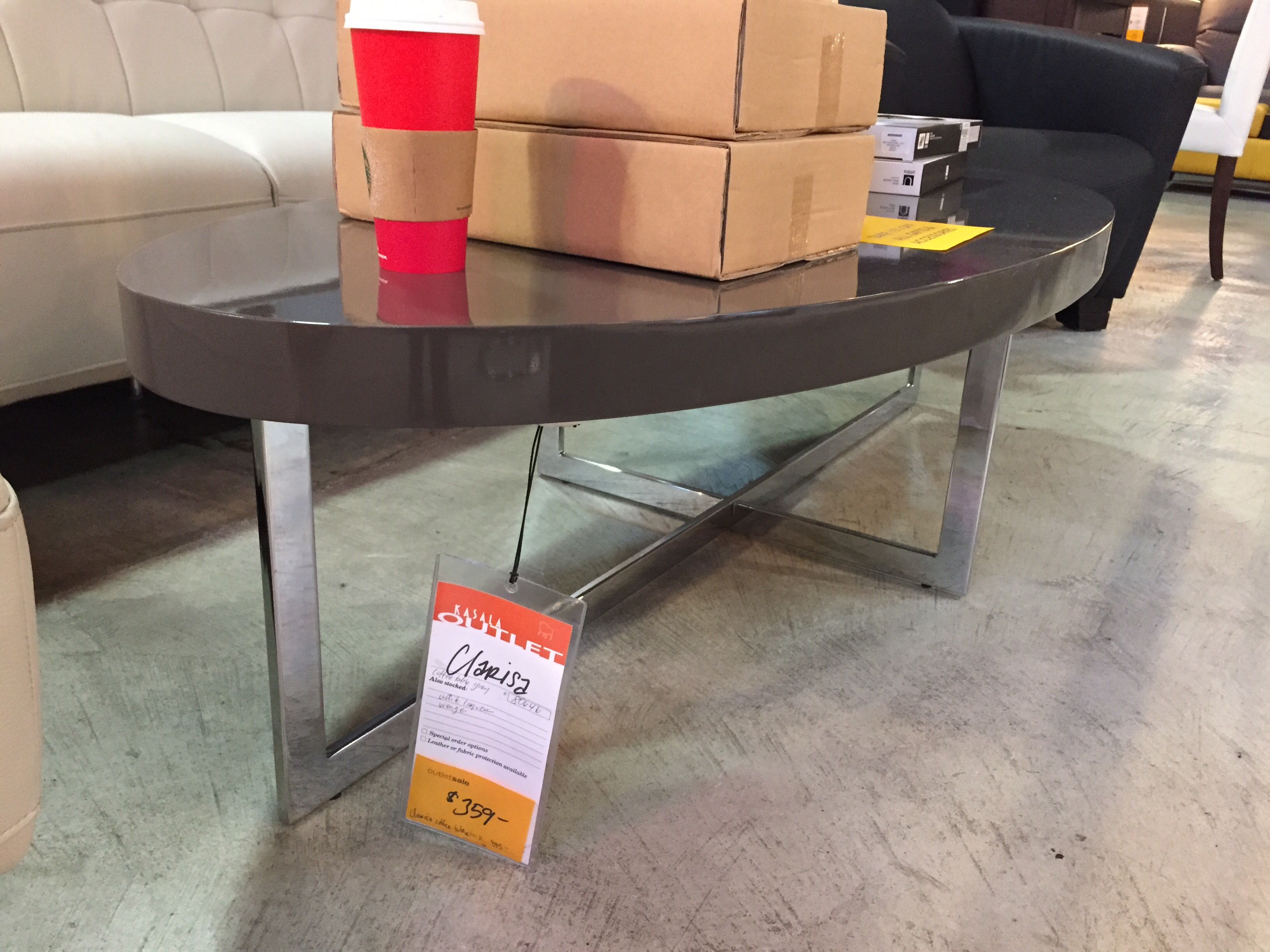 oval, nice sized coffee table. kasala outlet | furniture