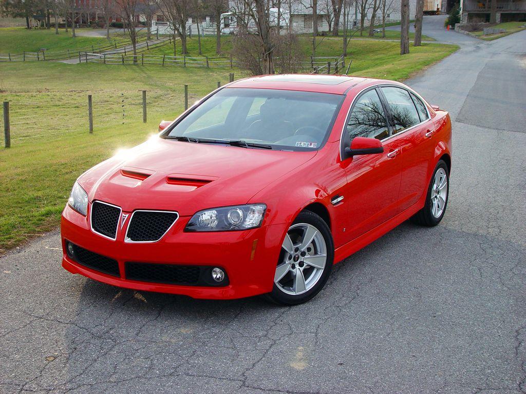 Red 2008 Pontiac G8